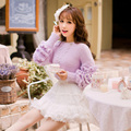 Princess sweet lolita Purple sweater Candy rain Special design Pure  simple Sleeve  Sweet style Japanese design  C16CD6154