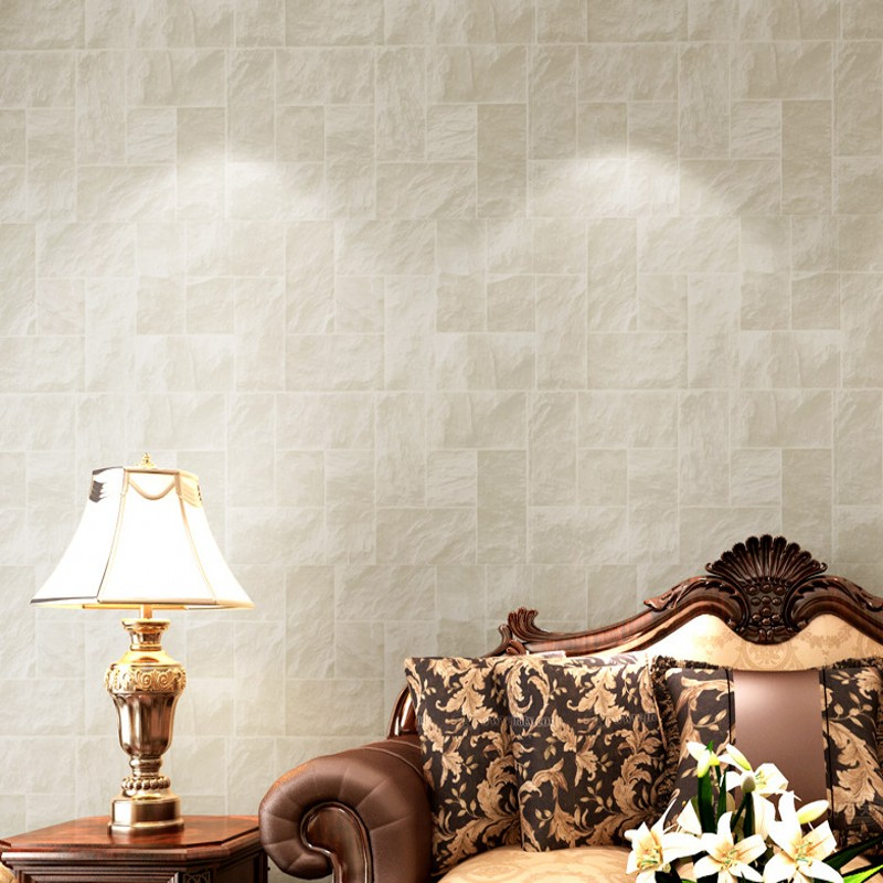 Free Shipping Europe Mediterranean stone brick pattern non-woven wallpaper 3D stereo living room TV background wallpaper free shipping hepburn classic black and white photographs women s clothing store cafe background mural non woven wallpaper