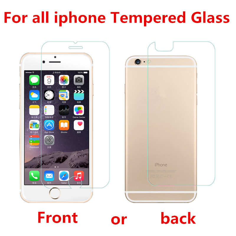 2.5D Tempered glass for iPhone 6 6S 7 8 Plus Screen protector glass film for iPhone X 8 5 SE 5C 4S 8plus Explosion proof film