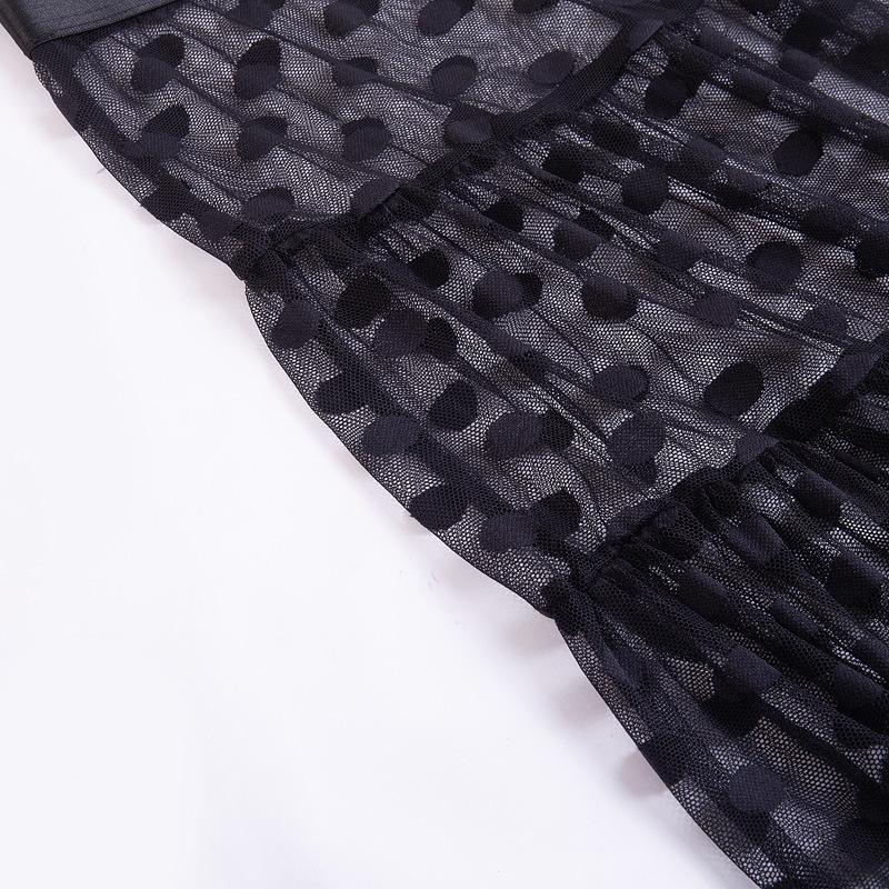 Dot Plain Skirt Waist 16