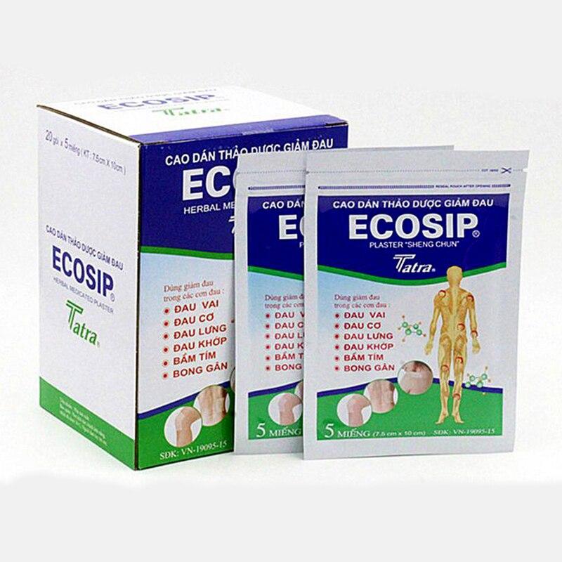 50Pcs/10bag ECOSIP Treatment Osteoarthritis Bone Hyperplasia Omarthritis Rheumatalgia Spondylosis Paste Pain Relieving Patch