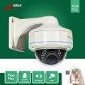 Anran hd impermeable al aire libre 30 ir a prueba de vandalismo cámara domo de seguridad sony cmos 1200tvl imx138 cctv sensor zoom 2.8-12mm de la cámara