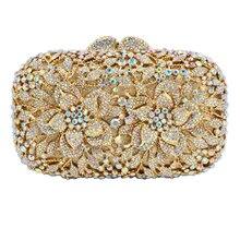 LaiSC date Orange Crystal Embrayage Sac Fleur Sac de Soirée Diamant Clouté Sacs À Main Femmes Noce Nuptiale Bourse SC437
