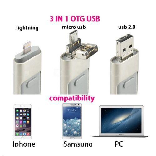 Последним я-Флэш-iFlash Езды HD U-Disk Micro USB интерфейс 3 в 1 для Android/iphone 5/6/5s/6 Плюс для iPad iPod/PC/MAC 32 ГБ