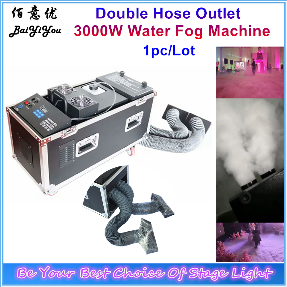 1x New Design Double Hose Outlet Water Smoke Machine DMX Remote Control Stage Effect 3000W Water