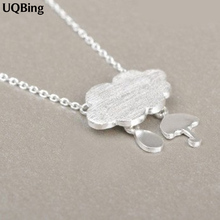 Drop Shipping 925 Sterling Silver Chain Necklaces Clouds Pendants&Necklaces Jewelry Collar Colar de Plata