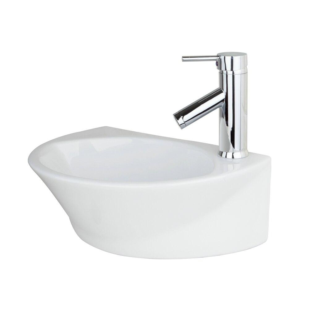 Ross Bathroom Ceramic Sink Wash Basin bacia banheiro Set Countertop Rectangular TW32048051A With Chrome Faucet Mixer Taps