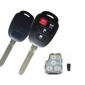 Wilongda  Car Key 3+1 Button Remote Key 314MHZ with G chip  For Toyota Remote Key