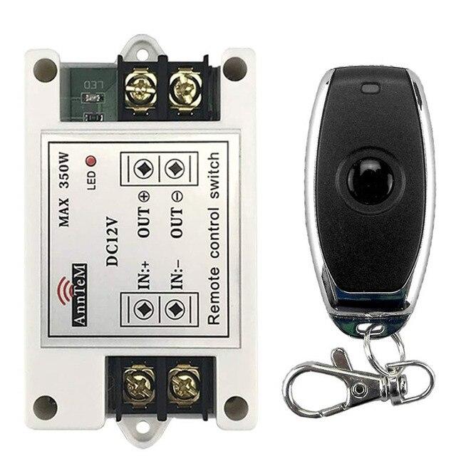ワイヤレスリモートコントロールスイッチ 433 433mhz の rf 送信受信機 12 v ユニバーサルバッテリ電源回路コントローラ車 led ストリップライト