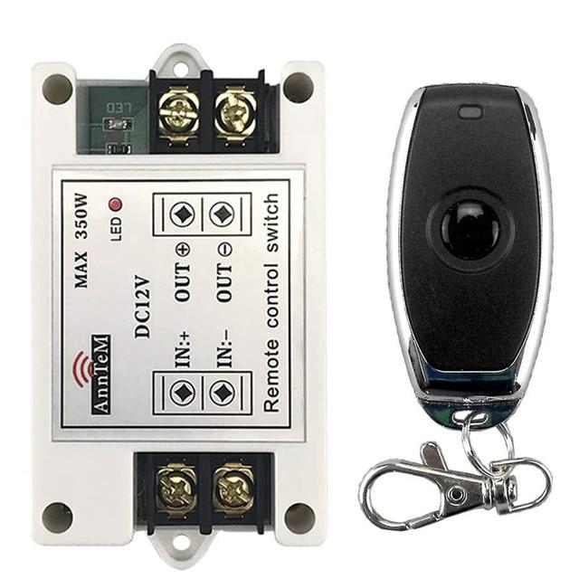 รีโมทคอนโทรลไร้สาย 433 mhz เครื่องส่งสัญญาณ rf 12 v Universal Power Circuit Controller รถ led Strip Light