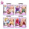 """2 Костюм Наряд Моды Милая Девушка Игрушки Куклы 18 """"45 см Принцесса Куклы Совместного Органа Рождество Подарок На День Рождения, Как Американские Sweet Girl DIY"""