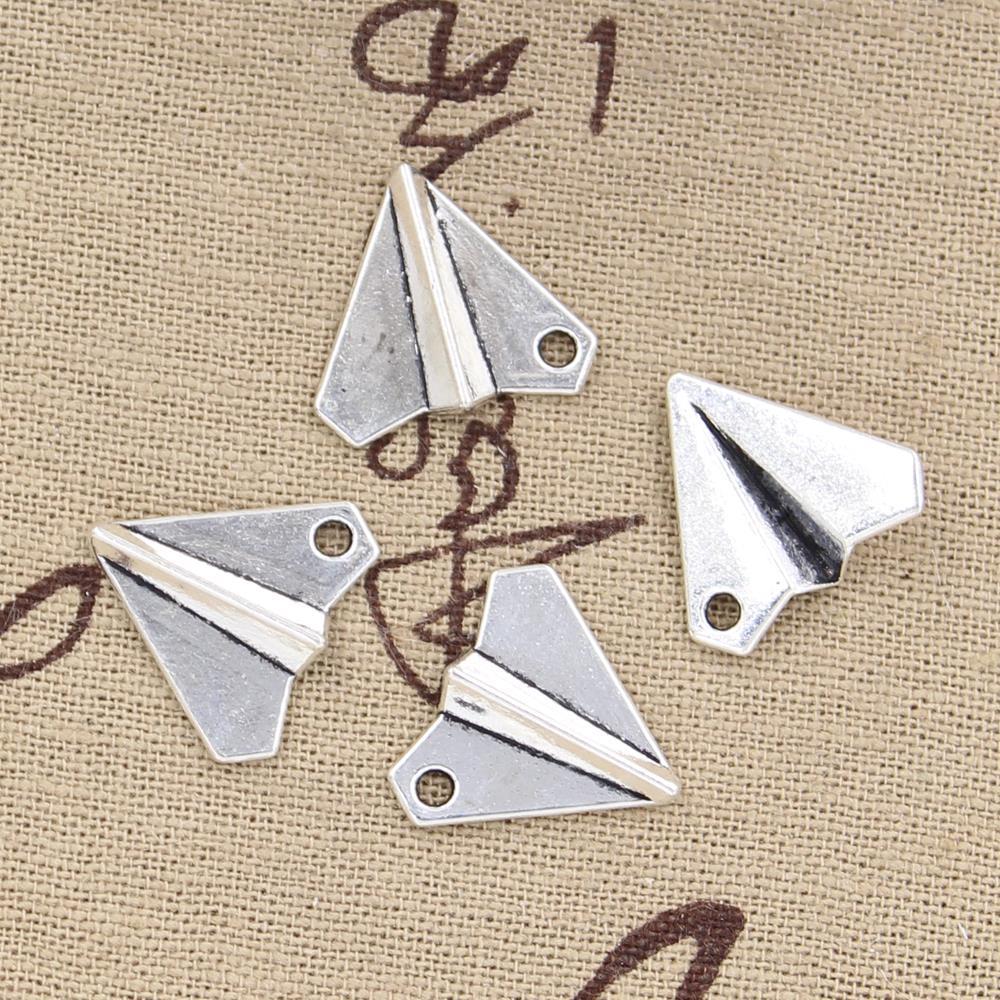 8pcs Charms Paper Airplane Plane 18x17mm Antique Making Pendant fit,Vintage Tibetan Bronze,DIY Findings Handmade Jewelry