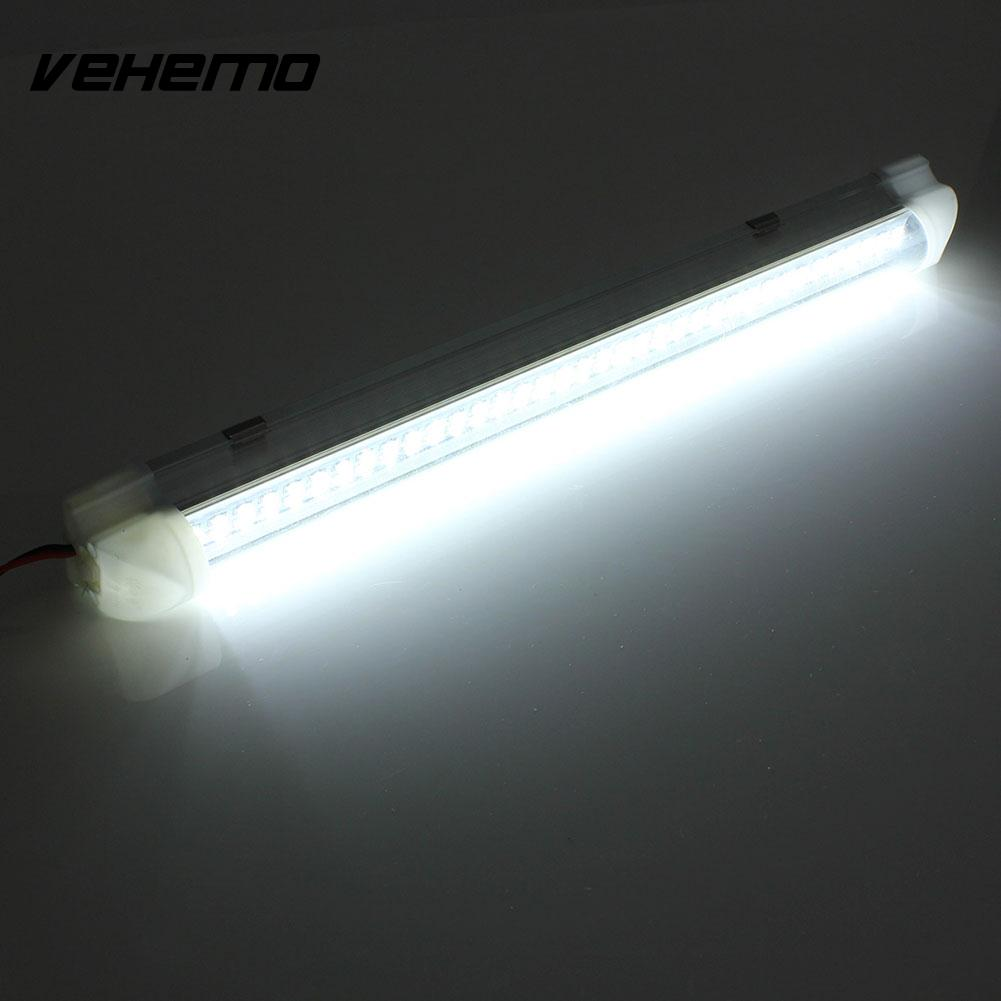Vehemo 2.5W 72 LED Auto Car Van Bus Caravan Home Light Bar with On/Off Switch 2pcs lot red led light 25 31mm spst 6pin on off g128 boat rocker switch 16a 250v 20a 125v car dash dashboard truck rv atv home