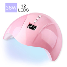 Nail dryer36W LED lamp all glue polishing fluorescent dryer infrared induction timer nail art tool smart n
