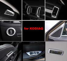 for SKODA KODIAQ Interior decorative frame silver(China)