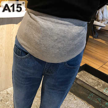Maternity Pants for Pregnant Women Clothes Pregnancy Jeans Pants for Plus Size Adjustable Waist Denim Belly Jean Trousers Autumn