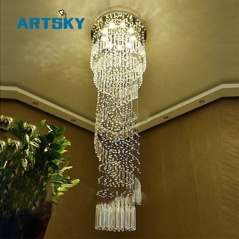 modern stairwell lighting. modern large crystal chandelier lighting for hotel hallway stairwell long stair light led hanging ceiling lmap living room lampin chandeliers from lights