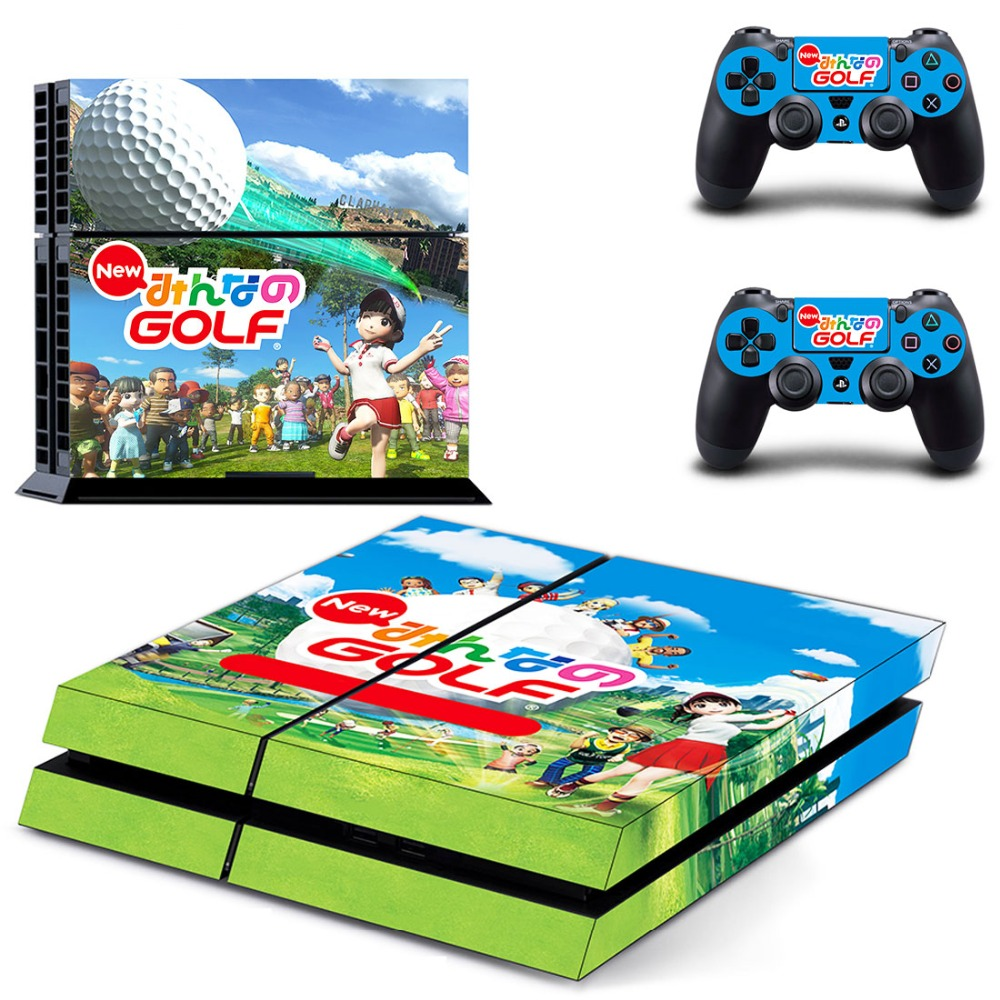 PS4 Skin Sticker of Game New Volkswagen Golf for Sony Playstation 4 Console and Controller