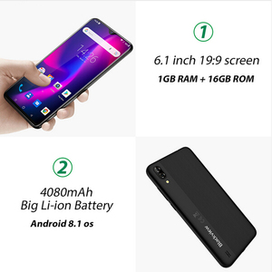 Image 2 - Blackview A60 Smartphone 4080mAh Android 8.1 1GB RAM 16GB ROM dört çekirdekli 19:9 6.1 inç çift Sim 13MP 5MP kamera 3G cep telefonu