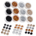 Hot 12pcs/set Flat Round Loose Sequins Paillettes Sewing Wedding Craft DIY Color Available Decorative