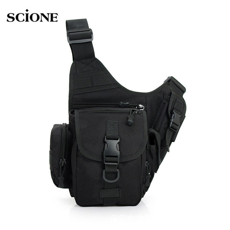 Men Camping Bags Tactical Shoulder Chest Bag Molle System Military Crossbody  Pouch Sports Sling Waterproof Sac 4f38be103ec17