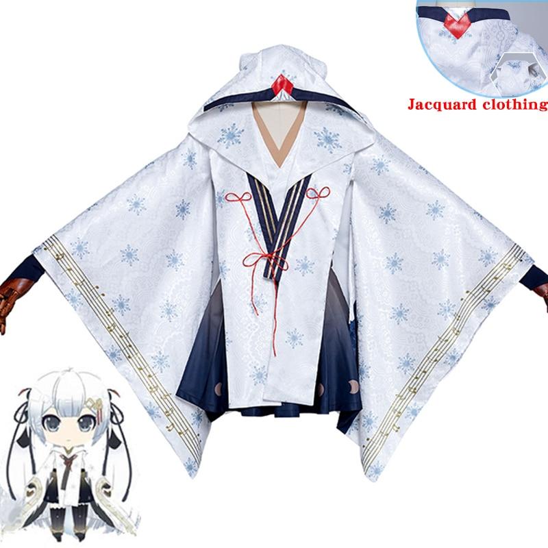 New Arrival 2018 Vocaloid Snow MIKU Yuki Witch Kagura ver. Kimono Halloween Carnival Cosplay Costume Fashion Uniform Custom Made