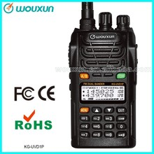 Dual Band VHF 136-174MHz / UHF420-520MHz 5W 128CH Walkie Talkie Two Way Radio with 1700mAH Battery