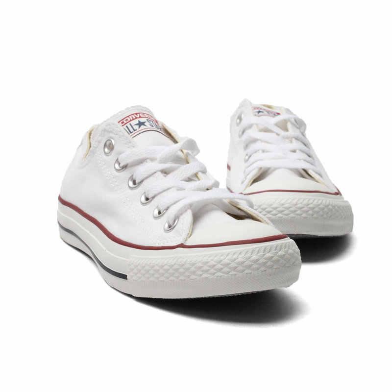 Ban Đầu Converse All Star Nam Nữ Giày Cho Nam Nữ Vải Bố Giày Mọi Đen Thấp Cổ Điển Trượt Ván giày