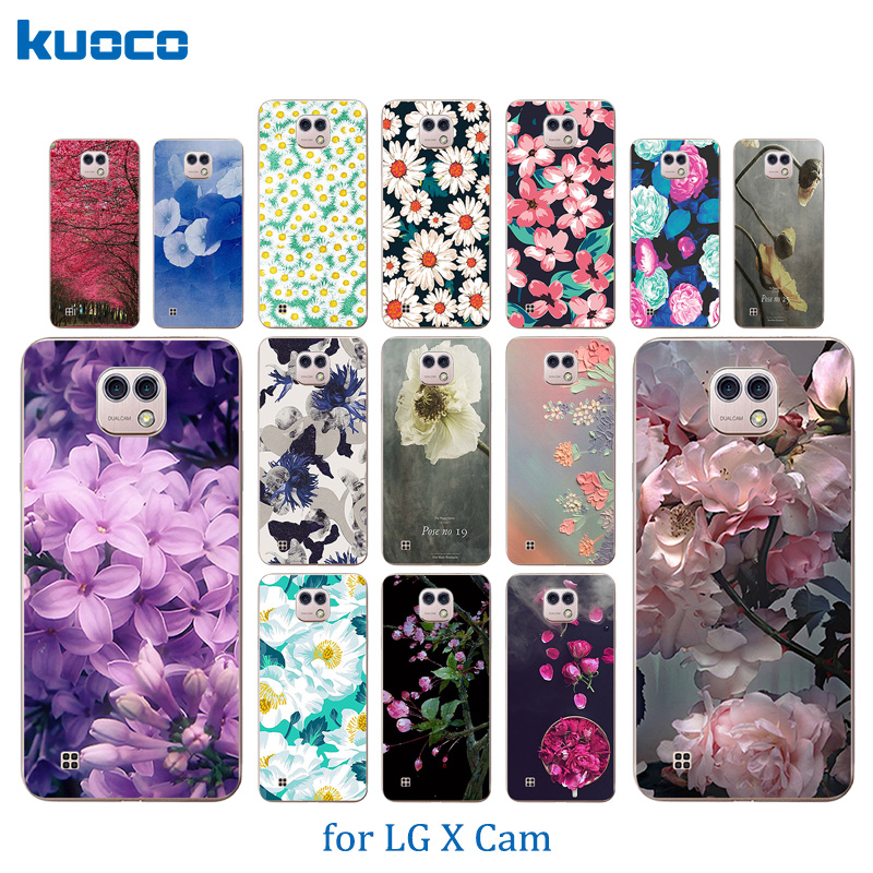 For LG X Cam Case Soft TPU Blossom Pattern Shell For LG K580 K580DS Cover For LG X Cam K580 K580DS 5.2 inch Phone Cases