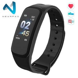 Wearpai C1Plus الذكية الفرقة ضغط الدم جهاز تعقب للياقة البدنية مراقب معدل ضربات القلب سوار ذكي الأسود الرجال ووتش للرياضة تسلق
