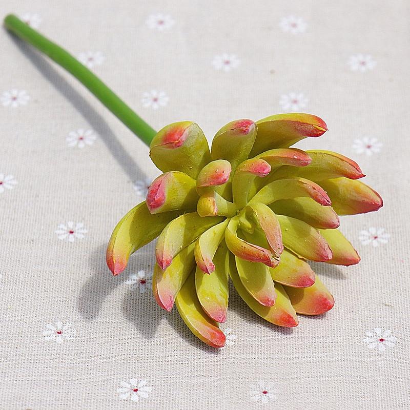 Artificial succulent plants Micro flower lotus 19cm long stick ...