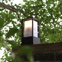 landscape Waterproof Black Aluminium Die casting main gate park pillar lamp front door courtyard fence lamp column lights