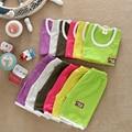 Estilo do verão define meninos meninas meninos roupa do bebê Set colete + shorts 2 pcs Terno Calções menino infantil roupas Família roupas Roupa Dos Miúdos