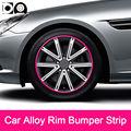 8 meters Car Alloy Wheel Rim Bumper Strip for SsangYong Rodius Korando Turismo Actyon Rexton Kyron Musso Tivoli