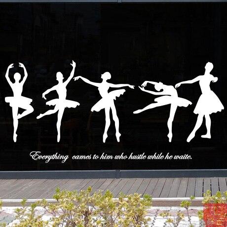 Home & Garden Ballet Girl Music Dance Pattern Wall Stickers Kindergarten Kids Room Dance Training Room Living Room Bedroom Wall Stickers