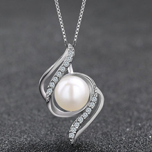 Pearl Jewelry 925 sterling silver Natural freshwater pearl charm Shell design Pearl Jewelry joyas de plata 925 цена и фото