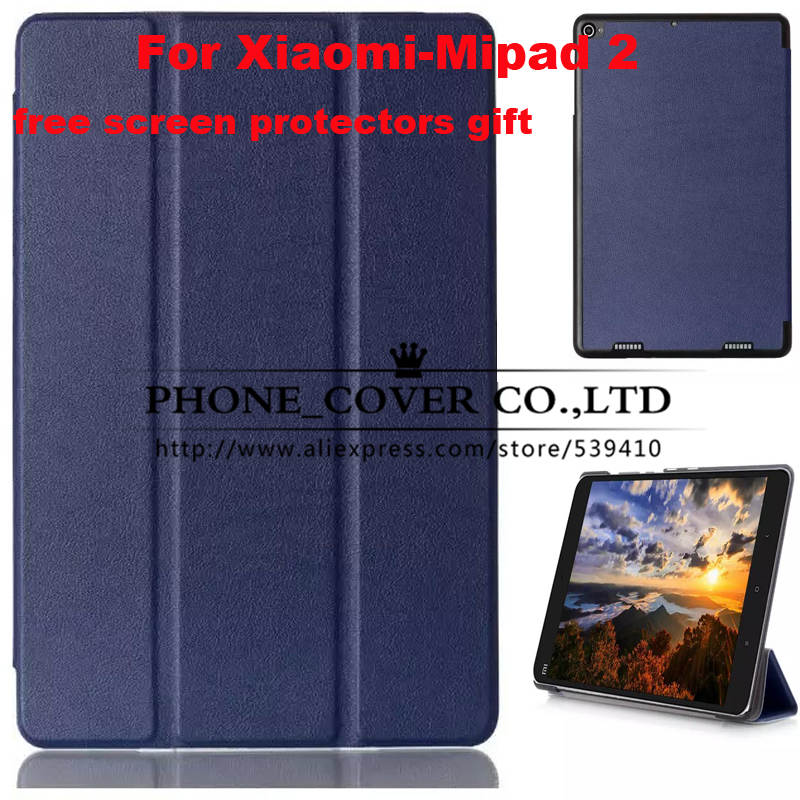 Magnetic stand Pu leather case cover for Xiaomi MiPad 2 7.9 inch tablet case for Xiaomi Mi Pad 2 case + screen protectors