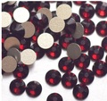 Free Shipping Nail Art Rhinestone Garnet Color SS8(2.3-2.4mm) 1440pcs/pack Non Hotfix Flatback Crystal Stones
