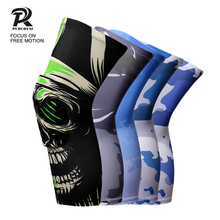 1 Piece Color Print sport Knee Pad climbing Mountain Iycra powerlifting knee sleeve gym Prevent injury basketball knee pad