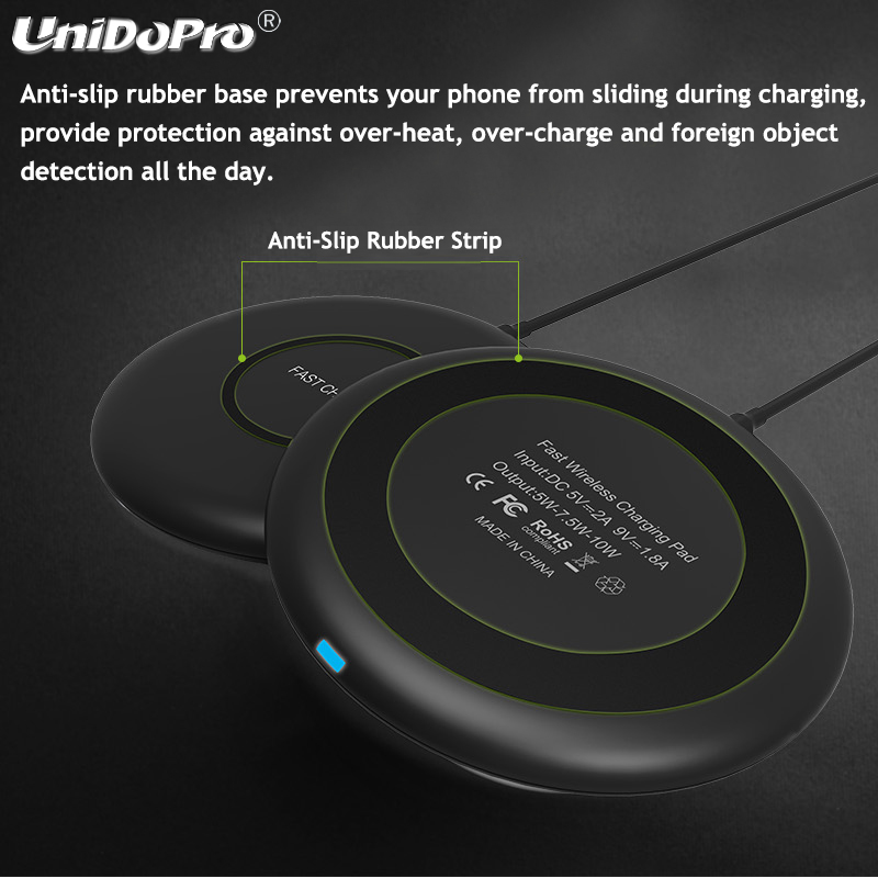 IPX5 Waterproof 10W Wireless Charger Pad for Doogee S68 Pro S90 S60 Lite Doogee S60 Qi Chargeur Induction (Nouvelle Version)