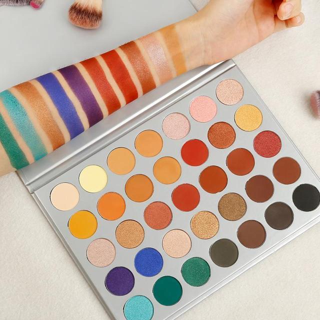 Matte Smoky Eyeshadow Pallete Mixed Color Baking Powder