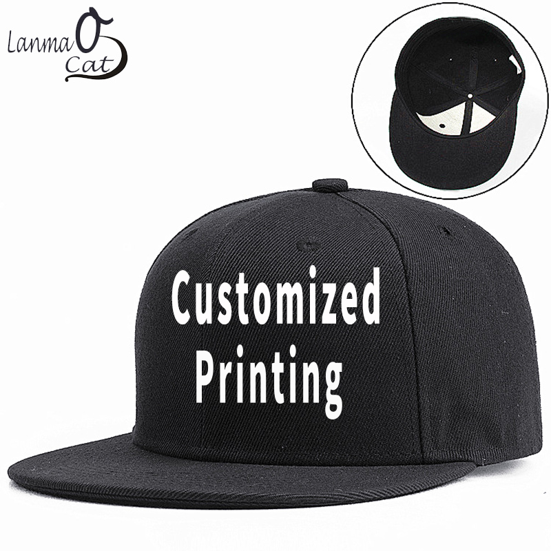 Dinamico Lanmaocat Testo Logo Nome Di Stampa Montato Cappello Della Protezione Di Stampa Personalizzata Hip Hop Montato Uomini Della Protezione Delle Donne Su Misura Protezioni Misura Il Trasporto Trasporto Libero