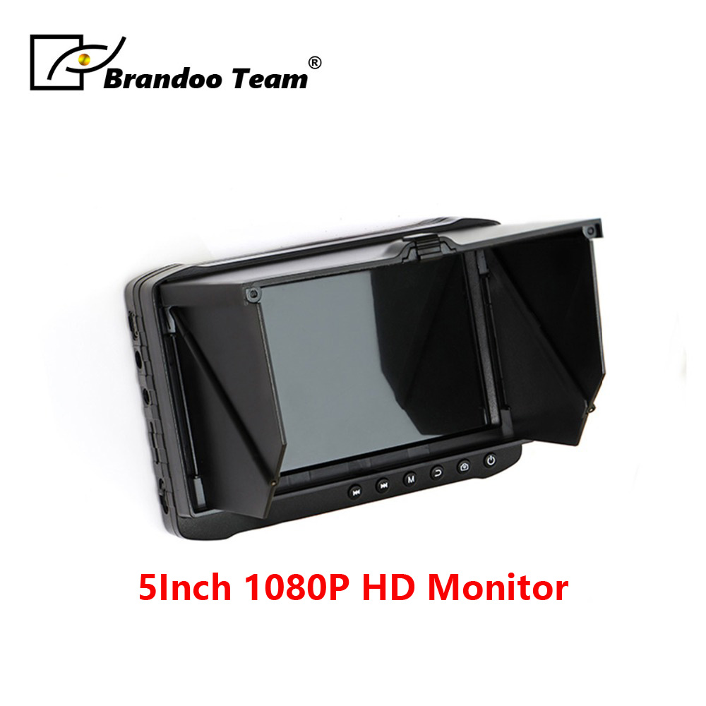 BRANDOO Cheapest 5 inch 1080P HD LCD Monitor Portable CCTV DVR With Sunshade cover Support HDTVI