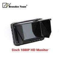 BRANDOO Cheapest 5 inch 1080P HD LCD Monitor Portable CCTV DVR With Sunshade cover Support HDTVI CVI CVBS AHD Video input