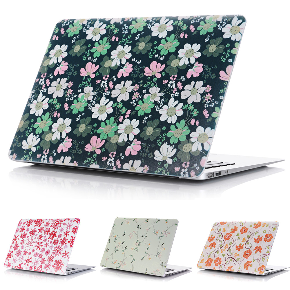 Color Flower Style Protective Hard Case Shell for MacBook 12 inch Air 11 13 inch Pro 13 15 inch Pro Retina 13 15 inch Touch Bar