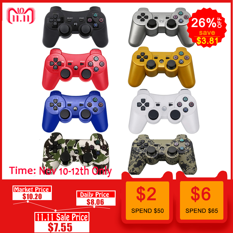 For SONY PS3 Controller Bluetooth Gamepad for PlayStation 3 Joystick Wireless Console for Sony Playstation 3 SIXAXIS Controle PC 3cleader® wireless controller for ps3 playstation 3 camouflage 1