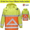 Dois tons dos homens inverno jaqueta parka de segurança de alta visibilidade reflexiva segurança vestuário de trabalho vestuário de trabalho