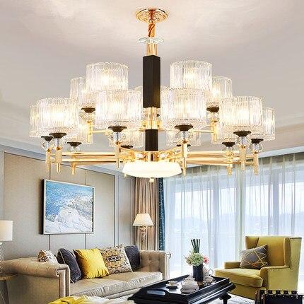 Modern Gold Metal Led Chandeliers Lighting Living Room Glass Led Pendant Chandelier Lights Dining Room Led Hanging Lamp Fixtures Pendant Lights     - title=