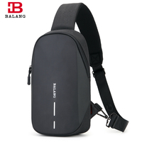 BALANG Brand Casual Men Chest Bags Waterproof Sling Shoulder Bag Multifunction Messenger Bag Fit 9.7 IPad for Teenagers Handbag