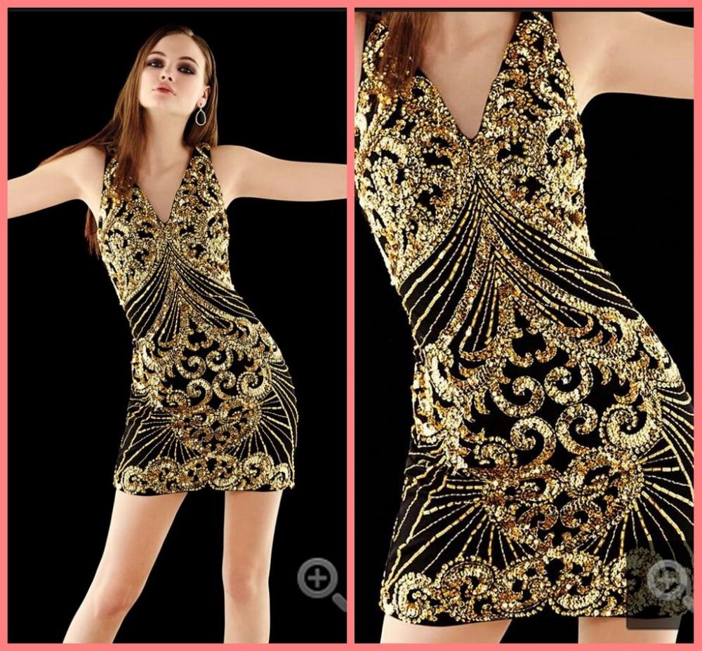 Gold Glitter Cocktail Dresses | Dress images